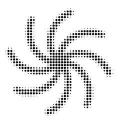 Black dot spiral galaxy icon vector