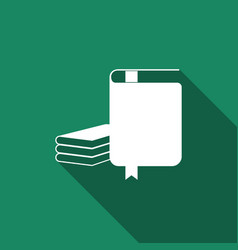 book icon isolated with long shadow flat design vector image