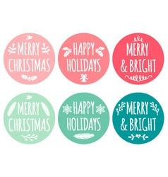 Christmas tags set vector