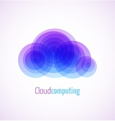 Cloud computing logo template icon vector
