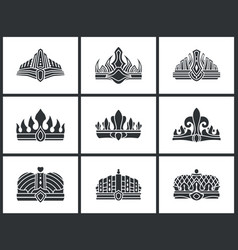 crown silhouette collection vector image