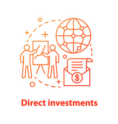 Direct investments concept icon vector