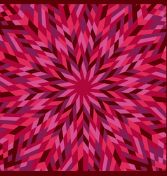 Dynamic abstract colorful radial mosaic vector