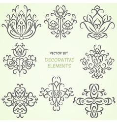 Ethnic black vintage elements collection vector image