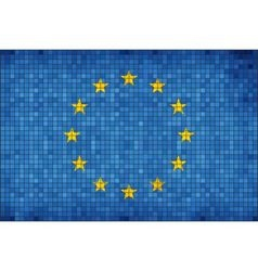 Flag of Europe vector image