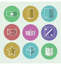 Flat icons for online store vector image