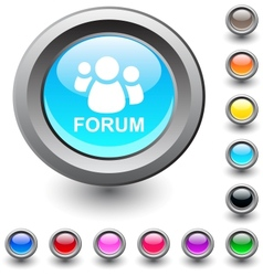 Forum round button vector image