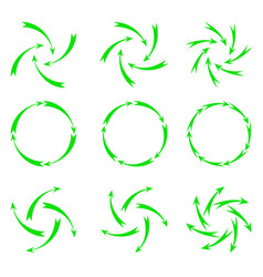 Green arrows vector