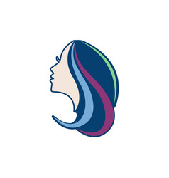hair beauty logo vector image