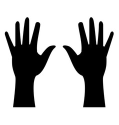 Hands human isolated icon n vector