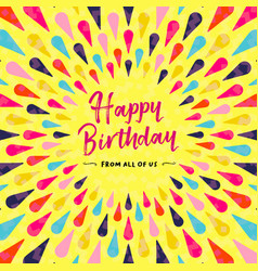 Happy birthday greeting card design for party vector