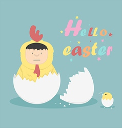 Hello easter vector