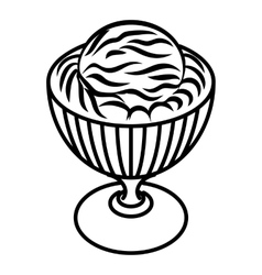Ice cream in cup icon outline style vector