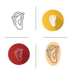 industrial piercing icon vector image