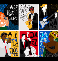 jazz music festival banners vector image