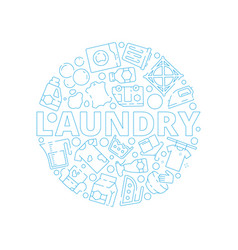 laundry service background dry washing cleaning vector image