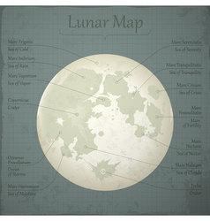 lunar map vector image