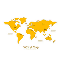 map global planet earth point white background vector image