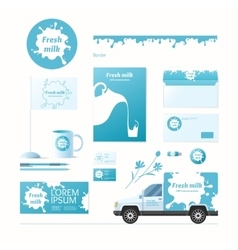 Milk corporate identity vector image