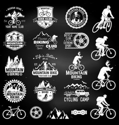 Mountain biking collection vector
