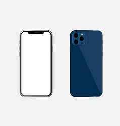 Newly released iphone 12 pro mockup vector
