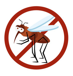 no sign mosquito vector image