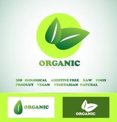 Organic bio food logo vector