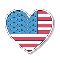 Patriotic heart isolated icon design vector