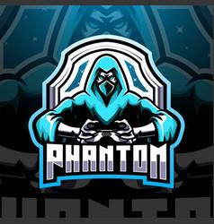 Phantom esport mascot logo design vector