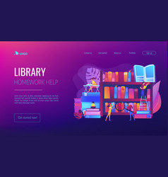 Public library concept landing page vector