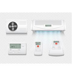 realistic air conditioner conditioners wave vector image