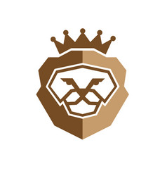 Royal king lion logo vector