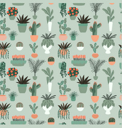 seamless pattern with collection hand drawn vector image