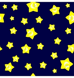 Seamless Yellow Cartoon Star vector