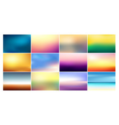 Set of blurred backgrounds in vector