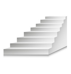 Stairs or staircases and podium ladder vector