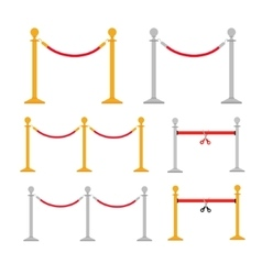 Stand rope barriers set i vector image