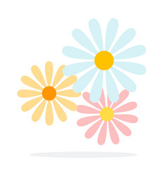 summer flowers flat material design isolated vector image