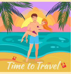 summer vacation flat vector image