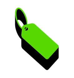 tag sign green 3d icon with vector image