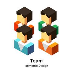 Team isometric vector