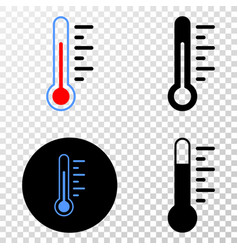 thermometer eps icon with contour version vector image