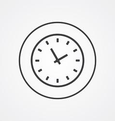 Time outline symbol dark on white background logo vector
