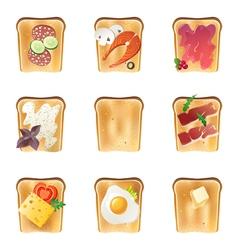 Toasts set vector