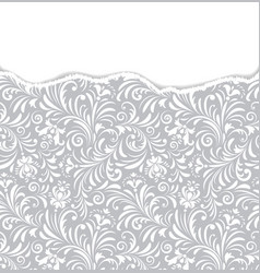 torn paper with floral pattern vector image