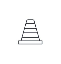 traffic cone thin line icon linear symbol vector image