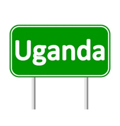 Uganda road sign vector