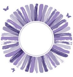 Ultra violet grunge circle banner vector