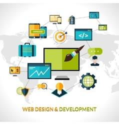 Web Development Composition vector