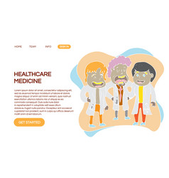 web page design templates for hospital vector image